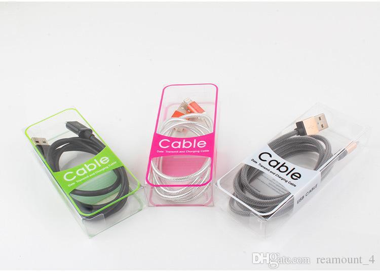 Neue PVC-Blister-Großhandelsbeutel für 2m USB-Kabel, die Kästen für Samsung-Apfel HTC Daten-Kabel-Plastikpaket-Kästen verpacken
