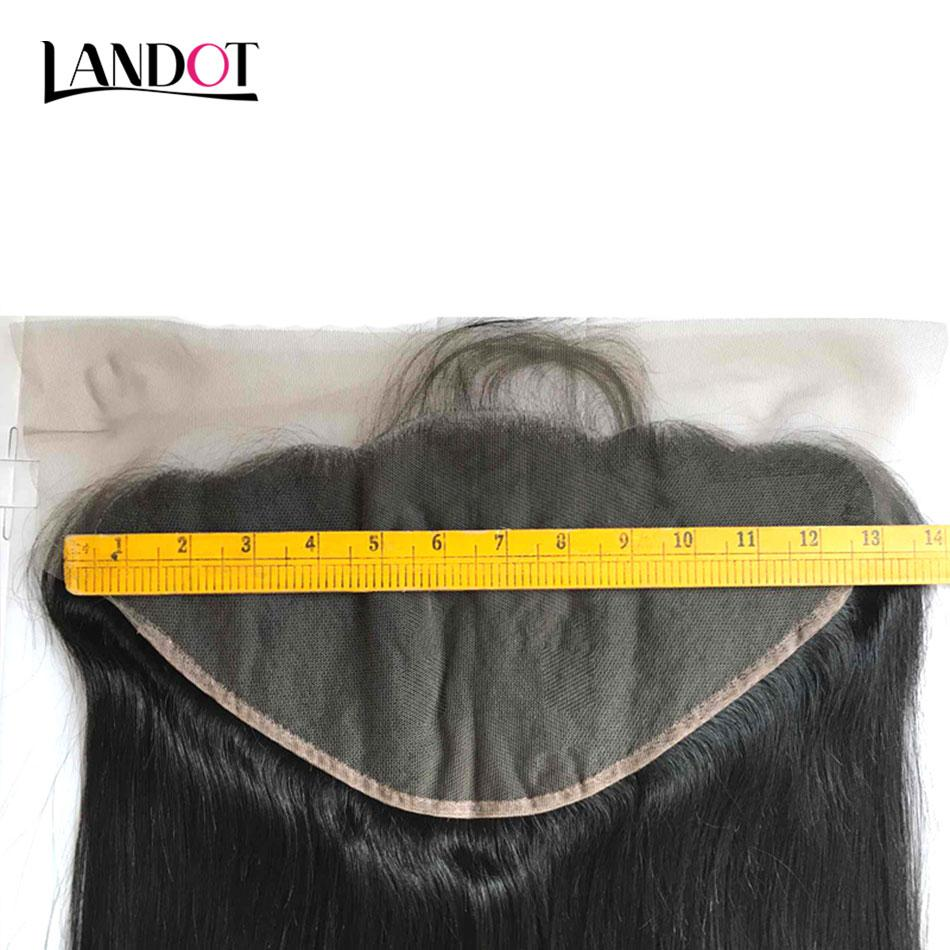 Brazilian Lace Frontals Closure Ear to Ear 13x6in Grade 8A Malaysian Indian Cambodian Peruvian Body Wave Straight Virgin Human Hair Closures