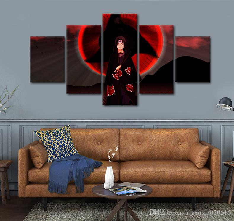 2018 wall art picture japanese anime naruto itachi spray painting on