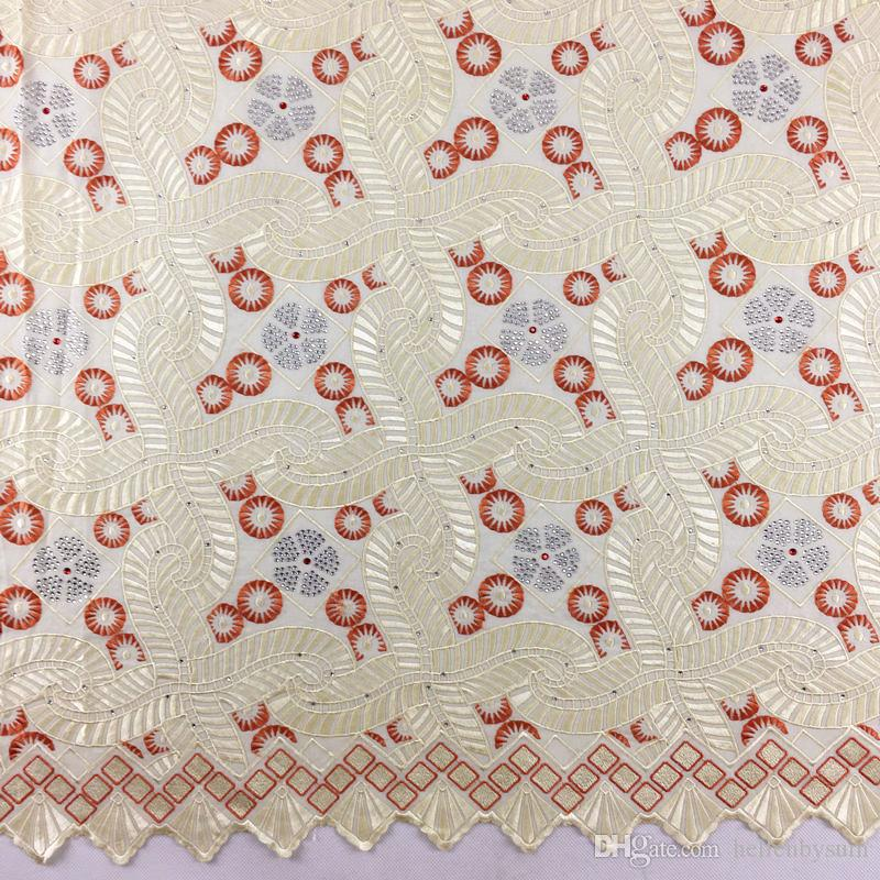 High Quality African Swiss Voile Lace 895, 5 yards/pack, 100%cotton African Wedding Party Voile Lace Clothes