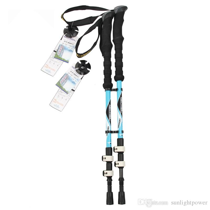 Outddor Telescopic Walking Stick Nordic Walking Stick Carbon Fiber Trekking Poles Hiking Carbon Adjustable Canes