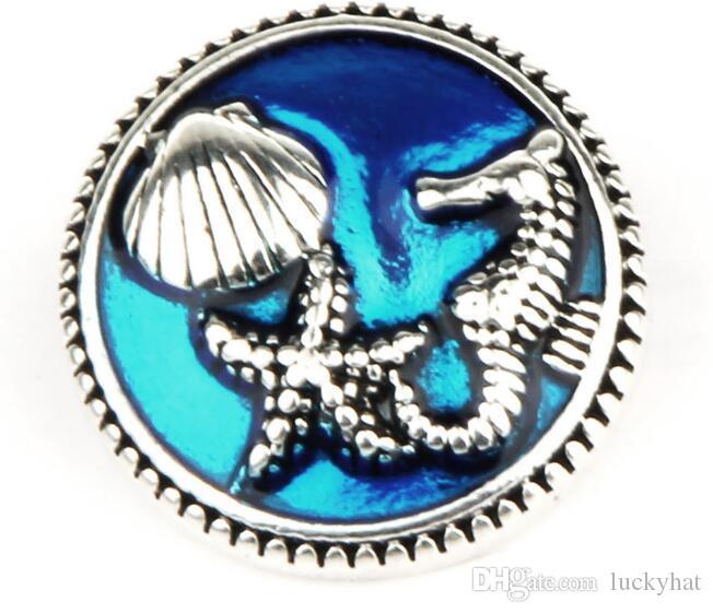 Hpt DIY Новый 20 шт. / лот 18 мм мода личность seahorse noosa кнопка оснастки кнопка Шарм fit ожерелье браслет sanp ювелирные изделия со стразами