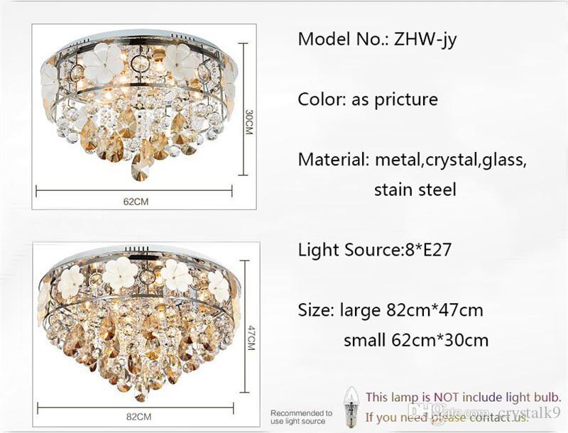 FUMAT Moderne Kurze LED Kristall Kronleuchter Deckenleuchte Schlafzimmer Wohnzimmer Europa Luxus Pendelleuchte Kristall Beleuchtung Deco