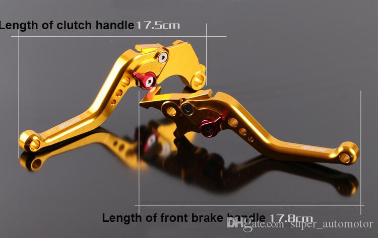 CNC Aluminum Brake Clutch Lever Motorcycle Racing Adjustable lever Blue Silver Red Yellow for MSX125 M3