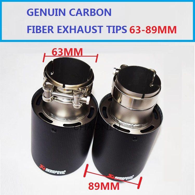 Extremidades del extremo del extractor de la fibra de carbono del coche de la calidad SUPERIOR para BMW 63m m en 89m m '' hacia fuera, envío libre