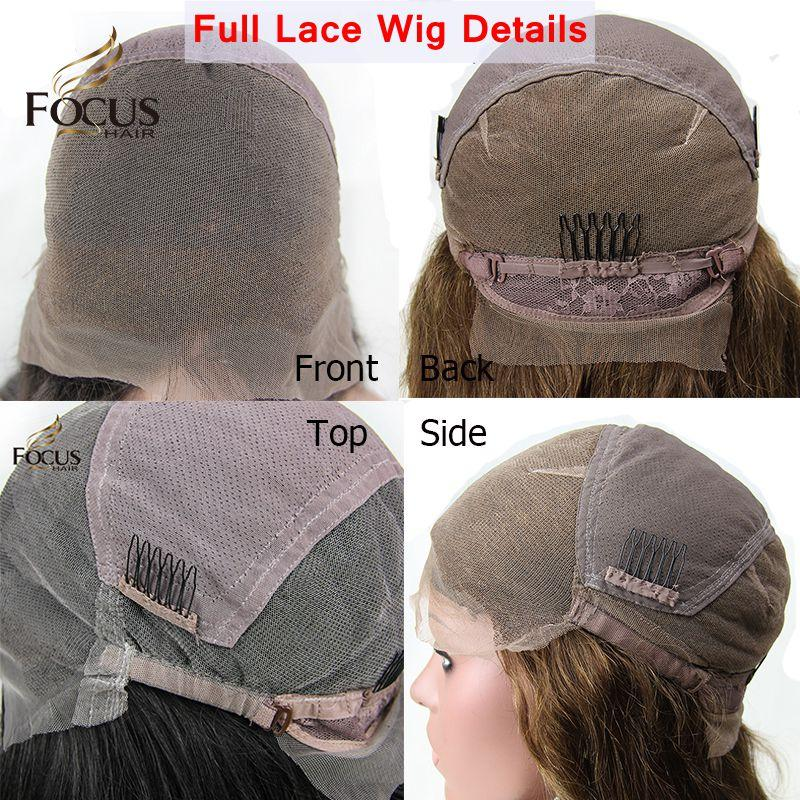 8A Full Lace Human Hair Wigs With Baby Hair Unprocessed Brazilian Virgin Hair Body Wave Lace Front Wigs For Black Women