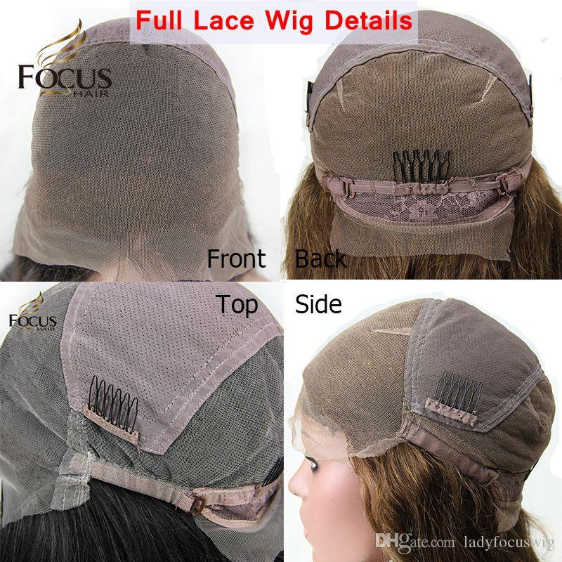 Lady Focus Glueless Full Lace Wigs With Baby Hair Human Hair Wigs Bleached Knots Body Wave Lace Front Wigs For Black Women