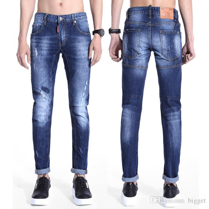 how to cut long skinny jeans