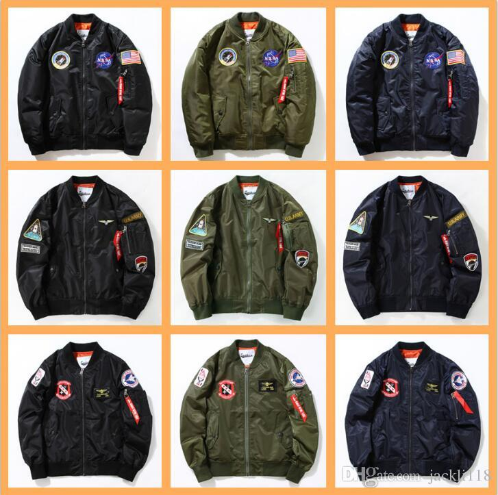 5d4991f18 U.s Nasa Ma1 Bomber Jacket Air Force Mens Spring Jackets Men ...
