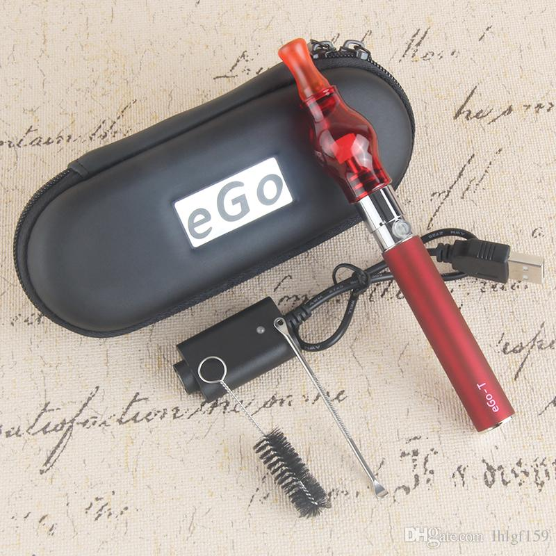 wholesale Hot ego vape kit 510 eGo-t wax wee vape pen for wax glass globe atomizer starter kits wax vaporizer pens e cigars