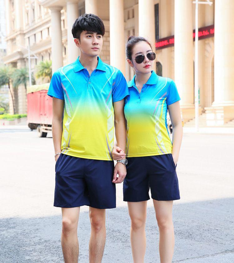 b8c89b66ee7c 2019 Summer Men S Short Sleeved Shorts Sportswear Casual Sportswear Couples  Students Fitness Badminton T Shirts Women Girl Sports From Ruimo