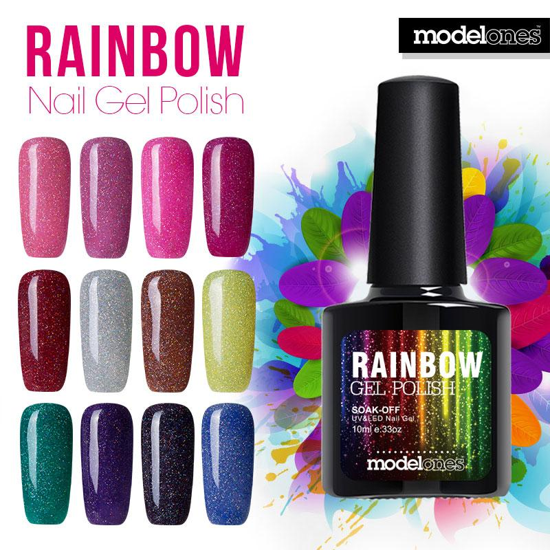 Beautiful Neon Rainbow Nails 10ml Uv Nail Gel Polish Professional ...