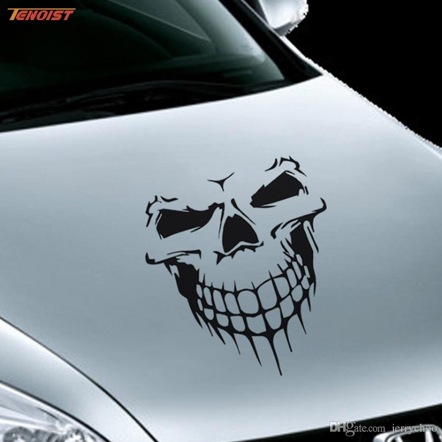 2019 car styling fashion white black red yellow skull window pvc sticker for car jeep suv truck 5953cm from jerrychoo 226 23 dhgate com