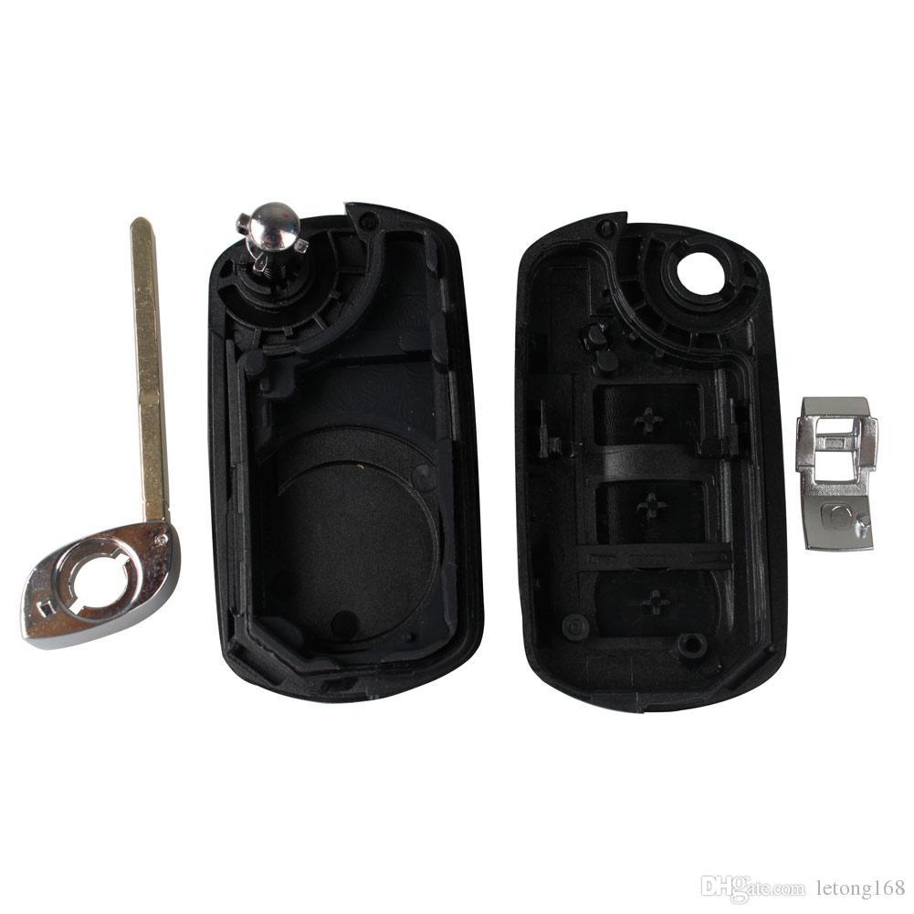Garantili% 100% Katlanır Flip Yedek Anahtarsız Uzaktan Fob Araba Anahtarı Kabuk Durumda Land Rover Range Rover Sport LR3 Discovery Ücretsiz nakliye