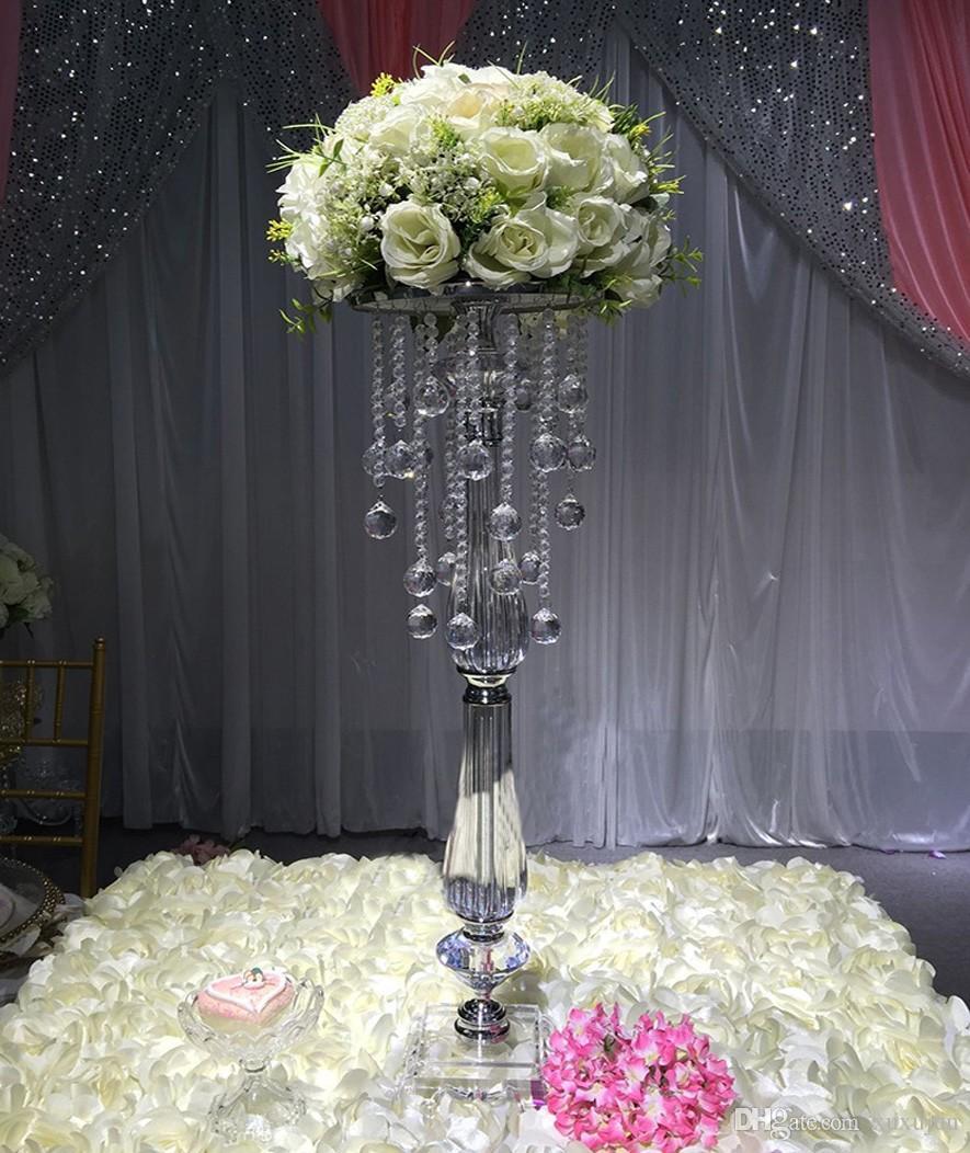 70 cm acrílico cristal peça central do casamento decoração do casamento da estrada chumbo, decoração do partido