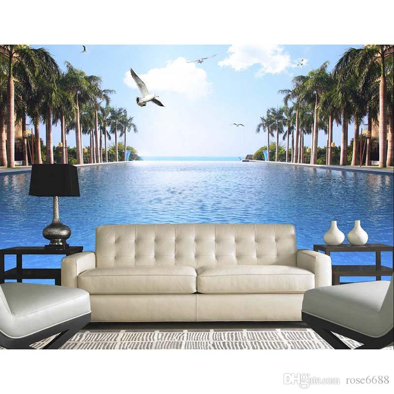 Home decor living room natural art customized wallpaper for 3d wallpaper for home decoration