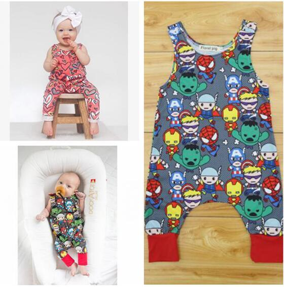 14c01ccf58f 2019 Cotton Cartoon Superhero Newborn Sleeveless Romper Baby Girl Boy  Clothes Bodysuit Jumpsuit Playsuit Cute Heart Shaped Printing Outfits 539  From ...