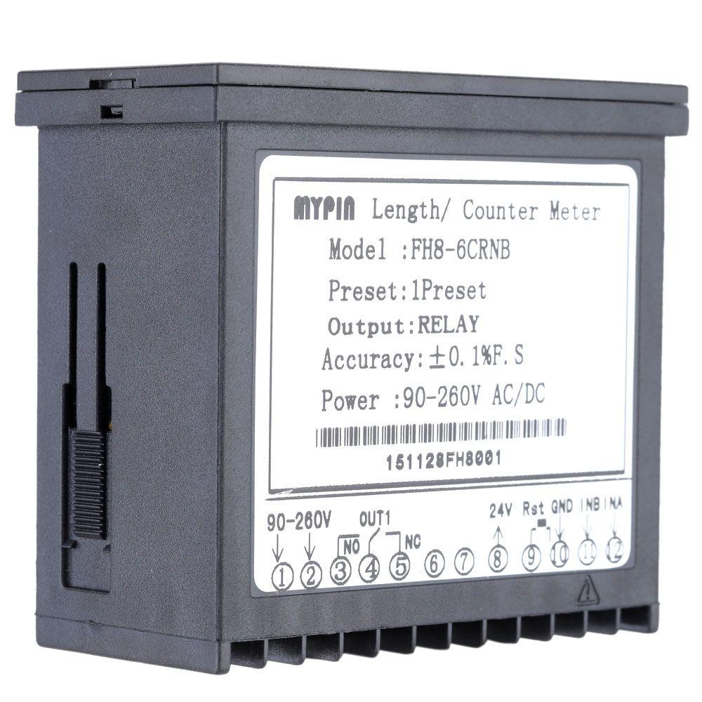 Freeshipping 90-260 V AC / DC Dijital elektronik Sayaç Uzunluğu Batch Metre 1 Preset Röle Çıkışı benzer insanlar parmak sayacı