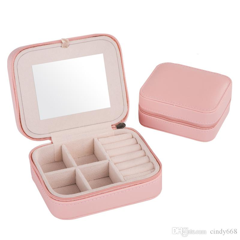 2018 Cheap Fashion WomenS Mini Jewelry Box Travel Makeup Organizer
