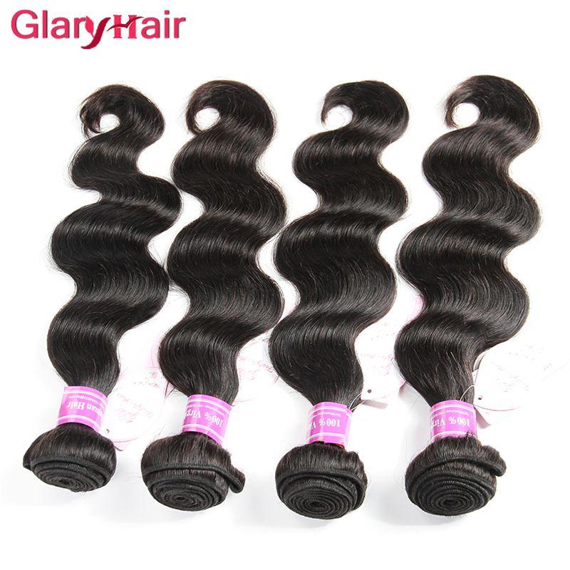 Wholesales Cheap Remy Hair Bundles Brazilian Virgin Hair Extension Body Wave Human Hair Weave Bundles Peruvian Malaysian Top Weft Body Wave