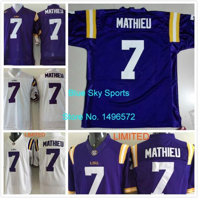 tyrann mathieu lsu jersey purple