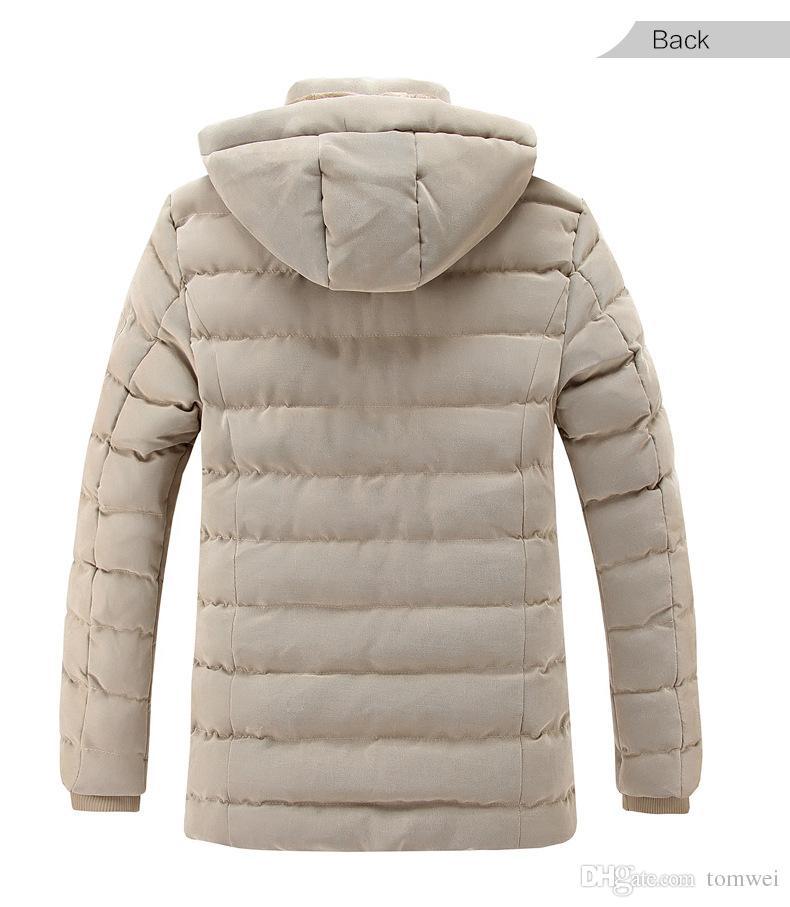 Marca Winter Parkas Chaquetas Hoodies para hombre espesar abrigos de piel Forro cálido Outwear Casual Tops ropa de nieve ropa