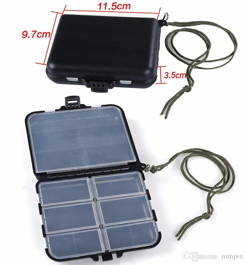 Fishing Tackle Boxes Fishing Accessories Case Fish Lure Bait Hooks Tackle Tool 9 Compartments for Storing Swivels, Hooks, Lures