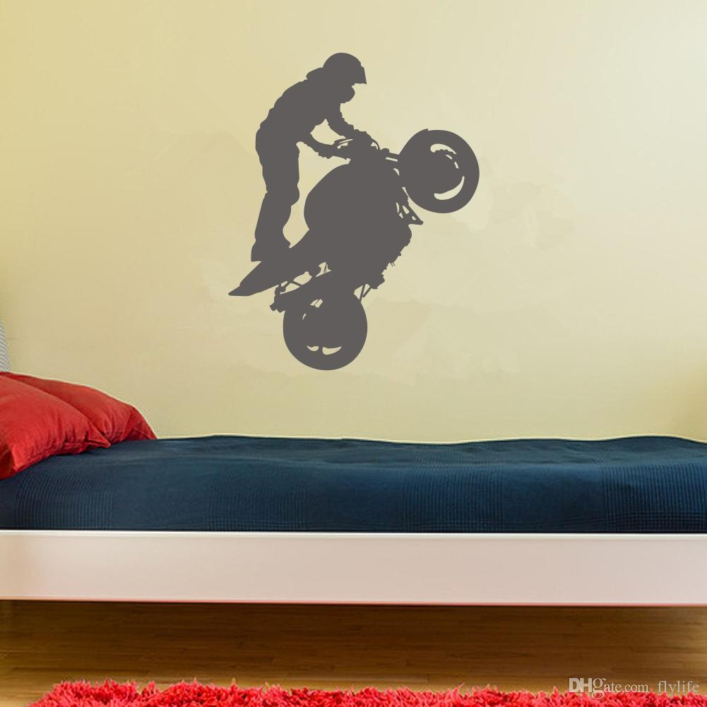 Motorbike Stunt Wall Art Stricker Wall Decal Home Decoration Wall ...