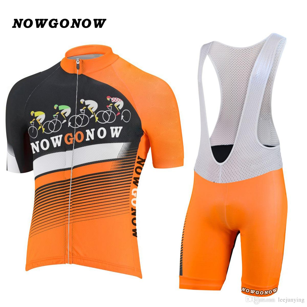 Men 2017 Cycling Jersey Classic Retro Orange Clothing Bike Wear Riding Mtb  Mountain Road Wear Custom NOWGONOW Bib Shorts Gel Pad Wholesale Cycling ... 67957f91b