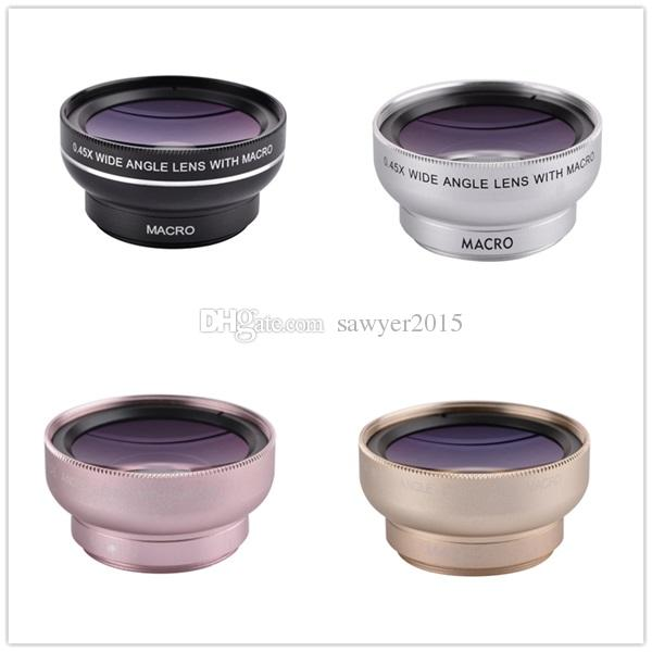 Universal Phone Lens 2 in 1 Cell Phone Camera Lens Kit 0.45x Wide Angle +12.5X Macro Lens for iPhone Android Smartphones