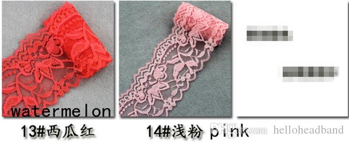 5.5cm Elastic Lace trim By The Yard - beautiful embroidered elastic lace trim for baby hair accessories headbands