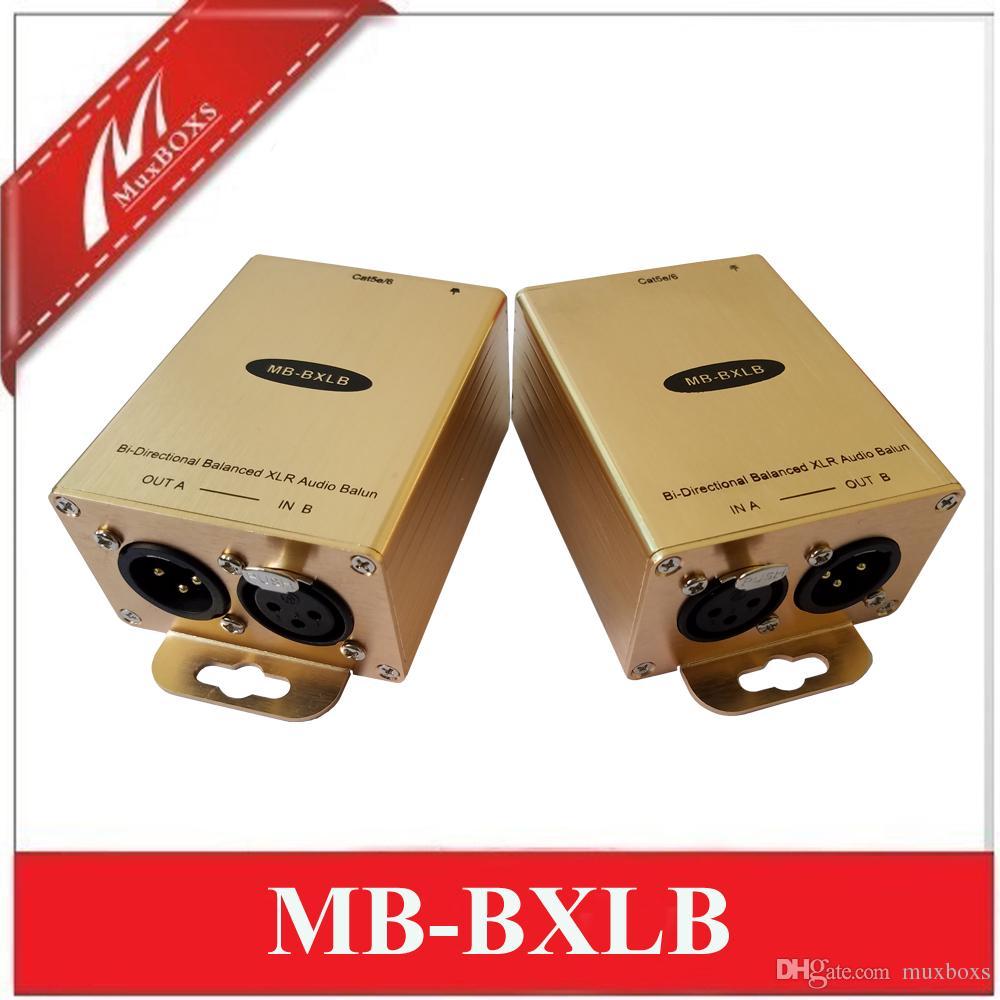 ثنائية الاتجاه AES / EBU النظير XLR الصوت التناظرية المتوازن الصوت موسع أكثر من CAT5E / 6