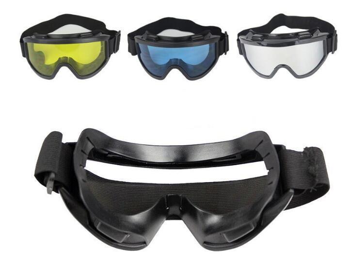 안경 스포츠 전술 항공 sandproof TPU 프레임 크로스와 고글 PC 렌즈 스키 방풍 가볍게 고글 색상을 사용할 수 스키 흐름