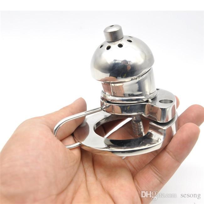 дизайн 316 из нержавеющей стали мужской целомудрие устройство петух клетка с стелс стопорное кольцо секс-игрушки новый тип