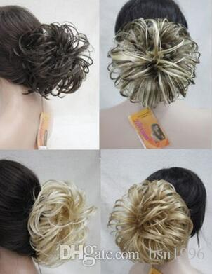free shipping Charming beautiful Hot Quality new brown mix Dome Wiglet Drawstring Ponytail 6 can choose