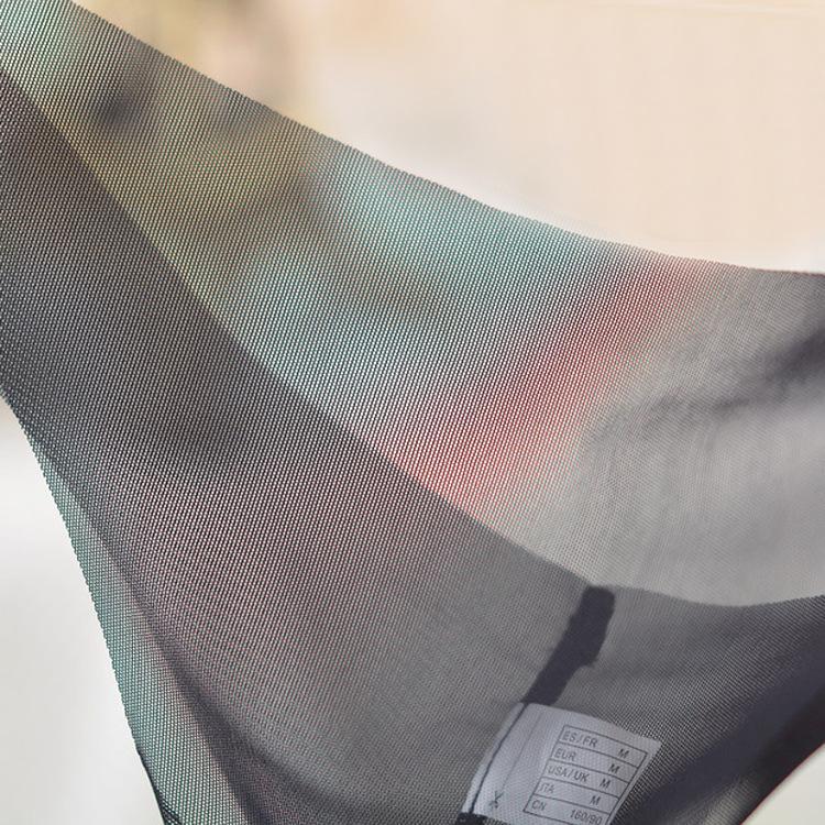 Sexy kobiety przezroczysta bielizna T-back niską talię cienką gazę bez szwu bielizna patrz przez majtki bez szwu majtki string fx8