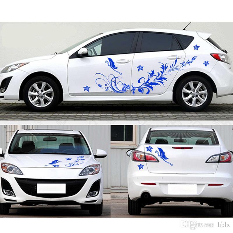 새로운 도착 자동 Modifield 데칼 비닐 스티커 전체 꽃 덩굴 잠자리 전체 자동차 바디 CEA_30K에 대 한