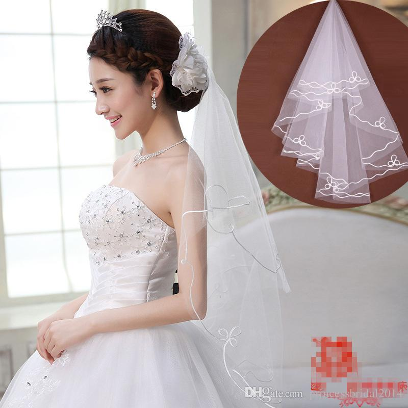 Fashion Style New Ivory Crystal New Arrvial One Layer Cheap Wedding Bridal Accessory For wedding Dresses Cheap Wedding Net In Stock