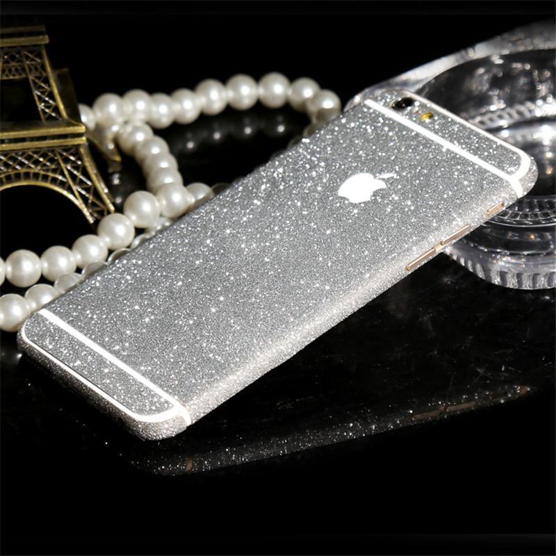 Luxury Diamond Glitter Ultra Thin Sticker For iPhone 6 6s 7 Plus 5S 5 SE Full Coverage Skin Decal Film Matte Case Cover