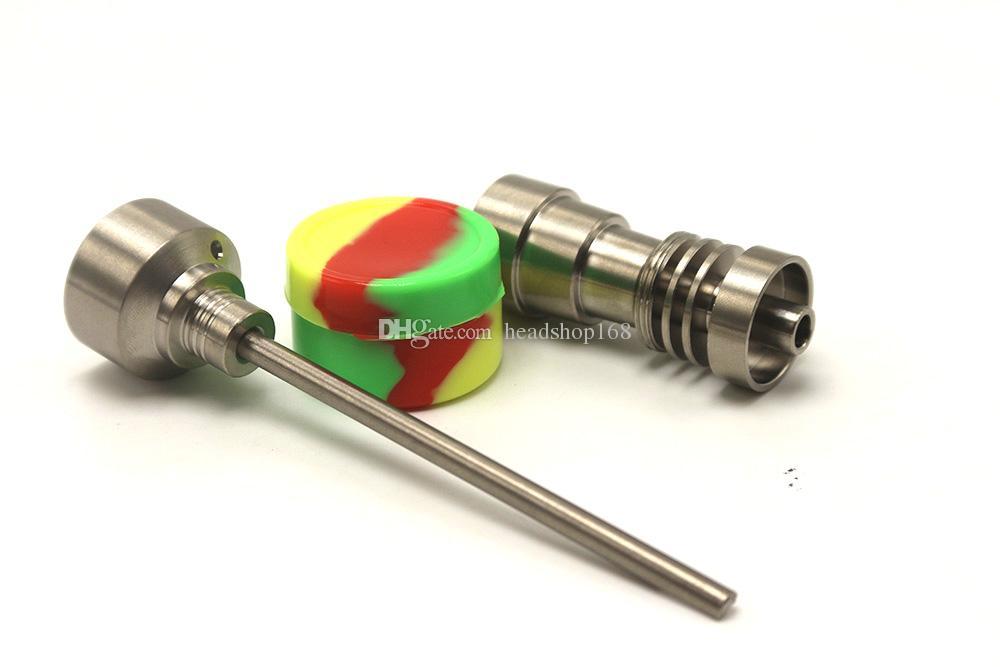 2017 prego Domeless GR2 Titanium com prego Titanium nova ferramenta Bong vidro definir Carb Cap Dabber Ferramenta Slicone Jar Dab Container frete grátis