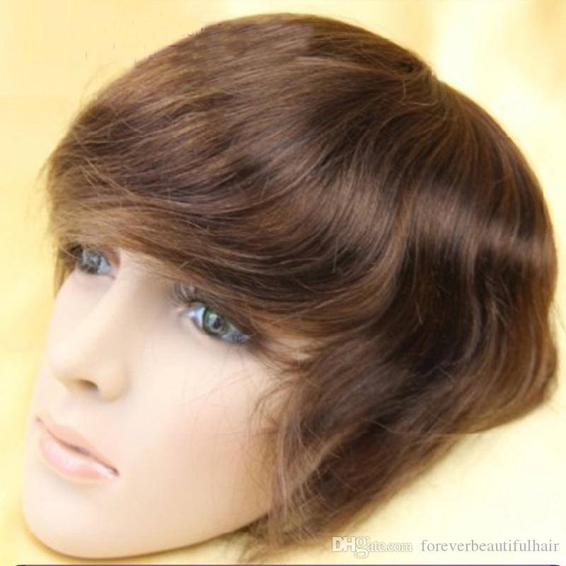 New arrival 6x8 toupee mens wig base style top swiss lace with around pu lace wigs for men toupee stock
