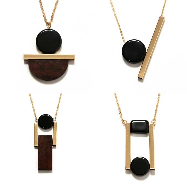 New style gold chain long necklace with wood brass pendants new style gold chain long necklace with wood brass pendants geometric elements jewelry for women accessories xx627 round wood pendant necklace brass pendant aloadofball Choice Image
