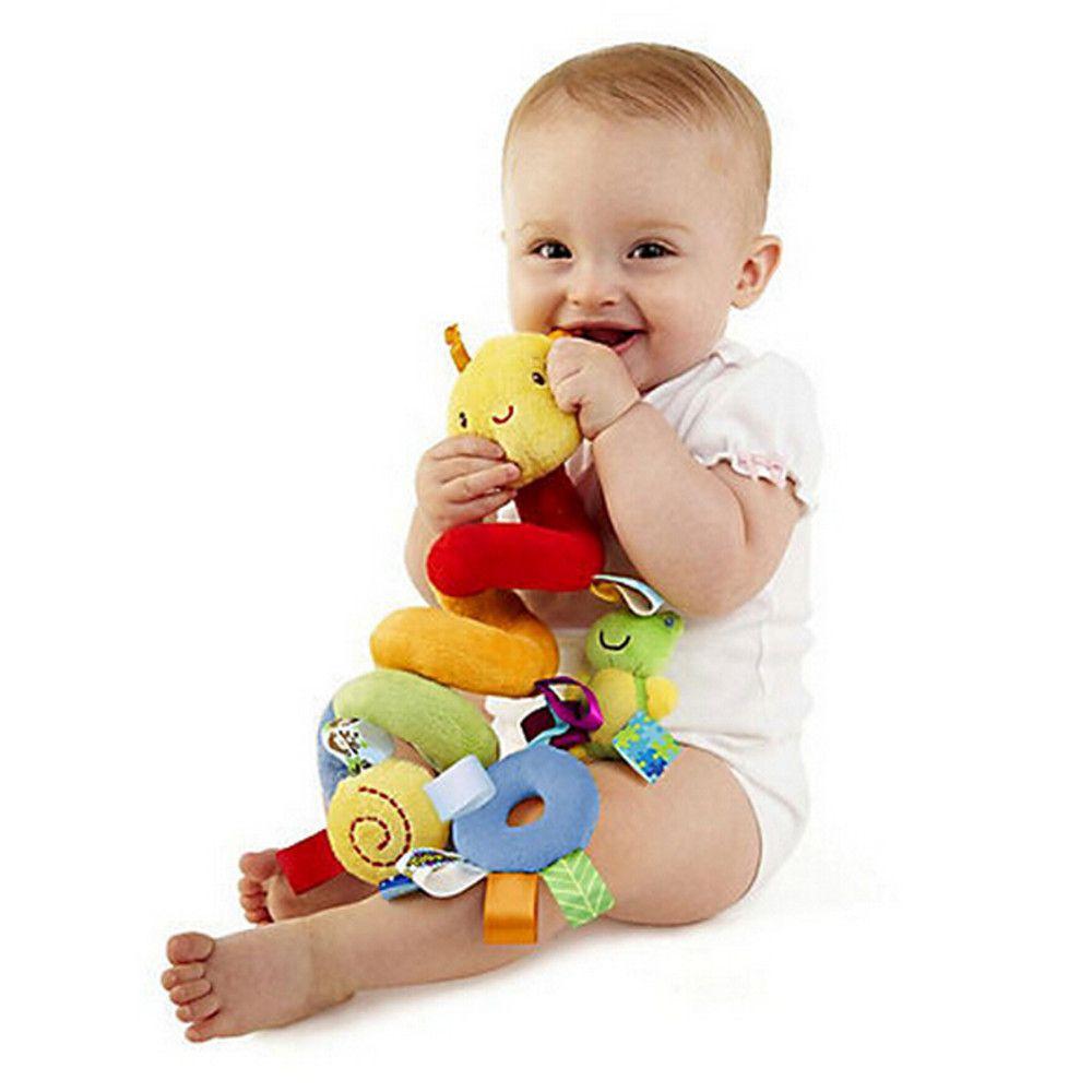 Baby Handbell Newborn Boys Girls Infant Soft Cute Animal DollNew Infant Toys Baby Crib Revolves Around The Bed Stroller Playing Toy Crib Lat