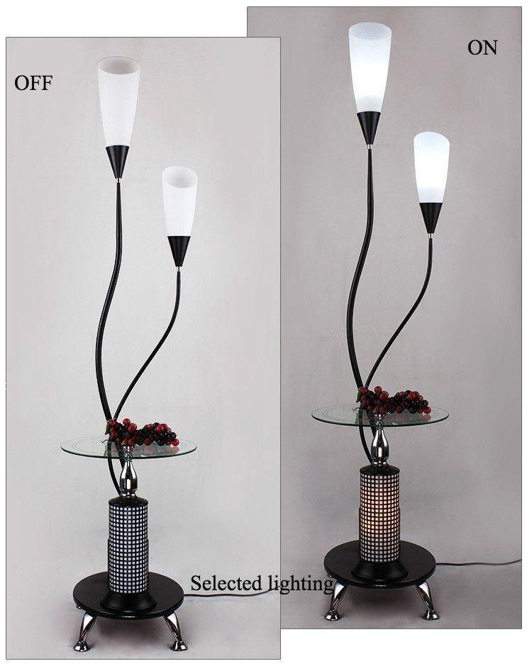 Modern Çay Masa Lambası LED Zemin Lambası Yatak Odası Oturma Odası Zemin Lambaları Cam Lamba ile Zemin Lambası Masa Dekoratif Aydınlatma