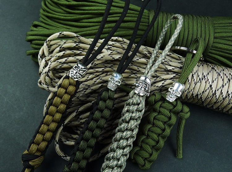 Freies Verschiffen antike silberner Ton-pflaster Schädel-große Loch-Korne europäisches machen Armband Schmuck paracord Zubehör