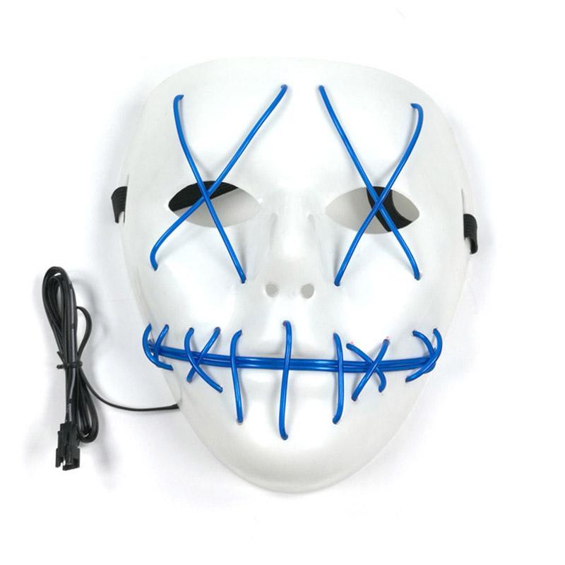 새로운 유령 할로윈 유령 마스크 퍼지 영화 엘 와이어 빛나는 마스크 가면 전체 얼굴 마스크 할로윈 의상 파티 선물 WX9-57
