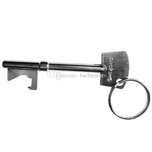 Key Shaped Bottle Opener Ring Keyring Keychain Metal Beer Fobs Bar Tool E00717