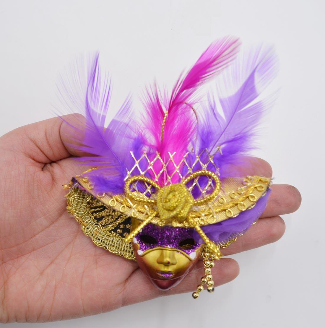 Masquerade Mini Masks Fridge Magnet Sticker Mardi Gras Party Decoration Little Beauty Venetian Party Mask Whiteboard Notes Sticker