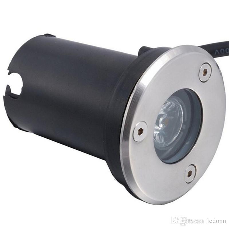 Freies Verschiffen 3W LED Untertagelicht IP68 begraben vertiefte Boden-Lampe DC12V AC85-265V CER RoHS