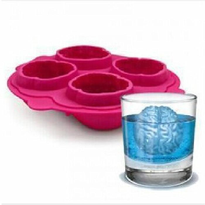 Бесплатная доставка мозг лед 3D плесень силиконовые формы торт инструменты резак формы для льда крем плесень инструменты для приготовления пищи